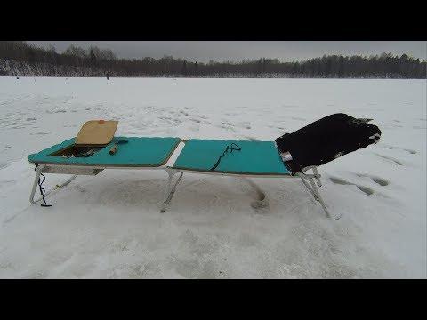 Как переделать раскладушку для зимней рыбалки