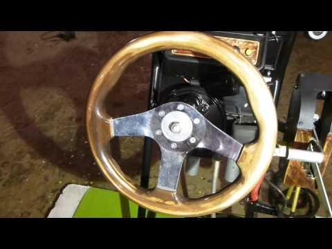 Самодельное ДУ лодочным мотором. Консоль.