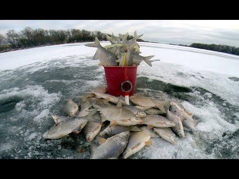 Зимняя рыбалка. Ловля белой рыбы (густера). Бешеный клёв. Рыбалка на льду.