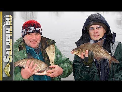 Отличная рыбалка на фидер зимой (рыболовная байка) [salapinru]