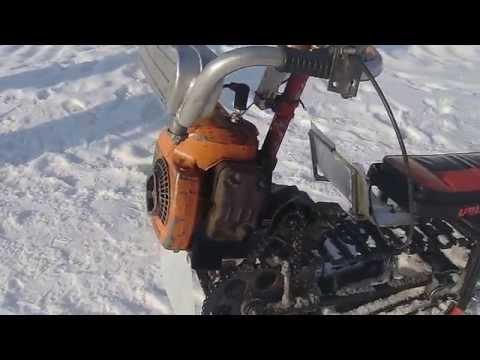 снегоход из бензопилы