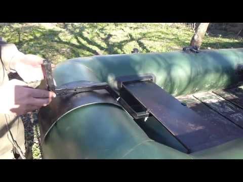 Самодельный транец для резиновой лодки.