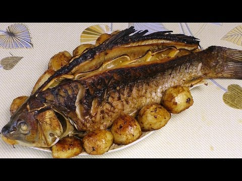 Сазан в духовке, Рыба на камнях, вкусный рецепт, #МоиРецепты#Сазан,#Карп