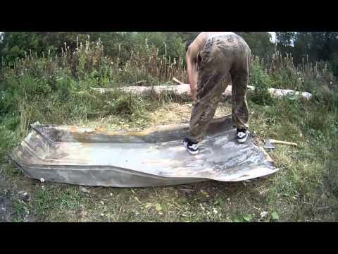 Лодка своими руками из листа железа.