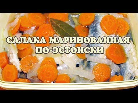 Рыба (салака) маринованная по-эстонски. Маринованная рыба рецепт.