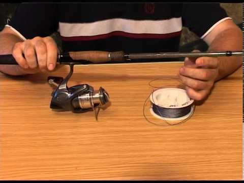 Спиннинг - как закрепить леску на шпуле катушки