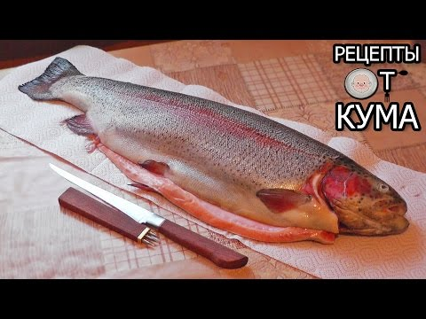 Разделка рыбы (форель) филейным ножом Сафарова Дамира