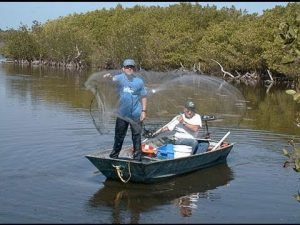 Рыбалка кастинговой сетью: заброс сети, парашют для рыбалки