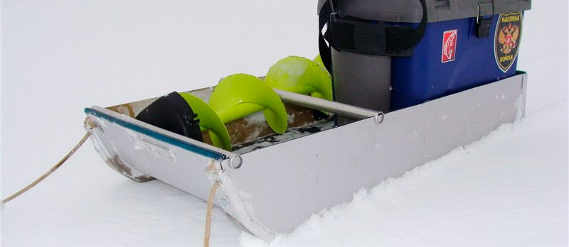 Самодельные санки для рыбалки зимой