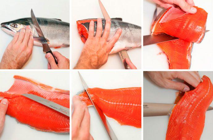 Правильная разделка рыбы