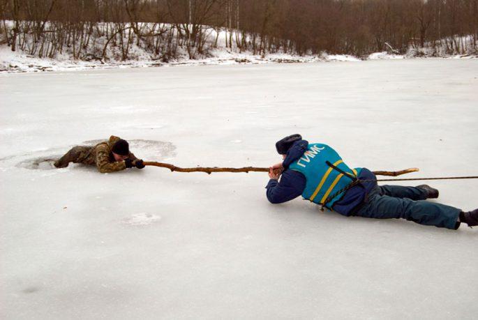 Опасные участки льда