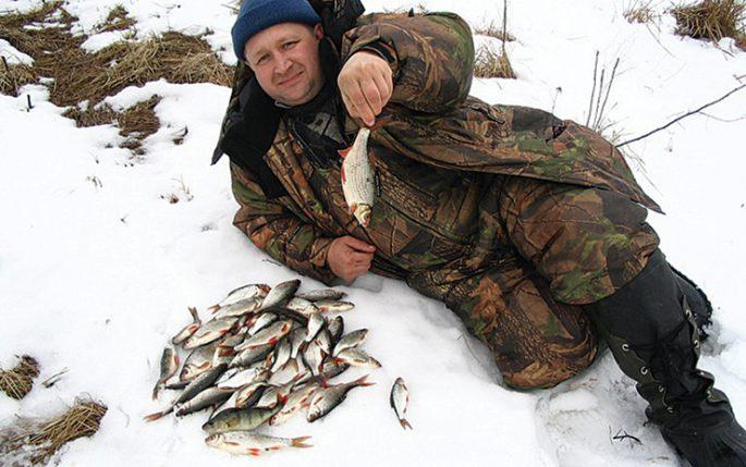 Ловля плотвы зимой по открытой воде