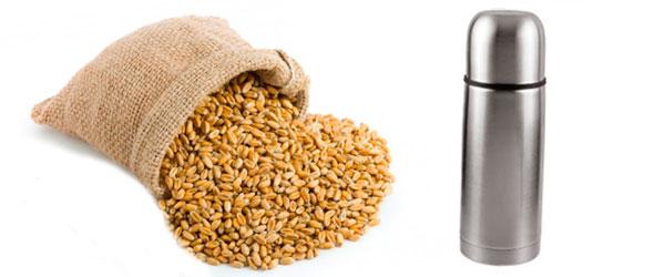 Запаривание пшеницы в термосе