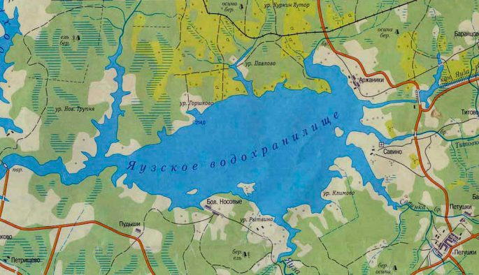 Описание Яузского водохранилища