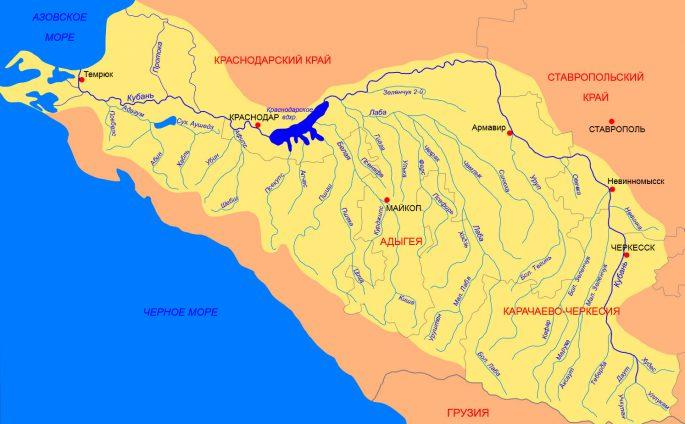 Река Кубань: как добраться