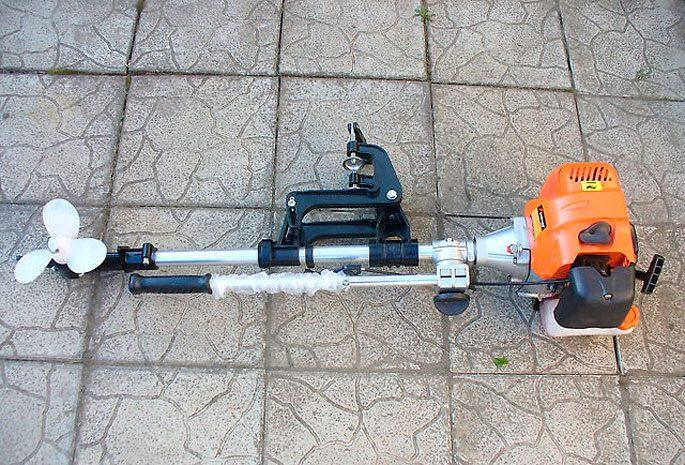 Лодочный мотор из бензокосы