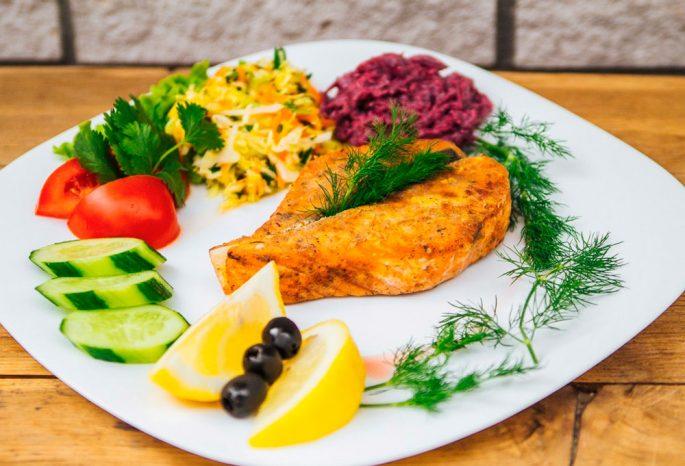 Гарнир к лососю (форели)