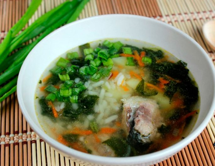рыбный суп из консервов сардины с рисом