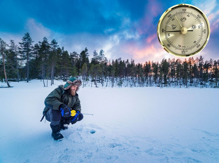 Какое давление для рыбалки лучше зимой