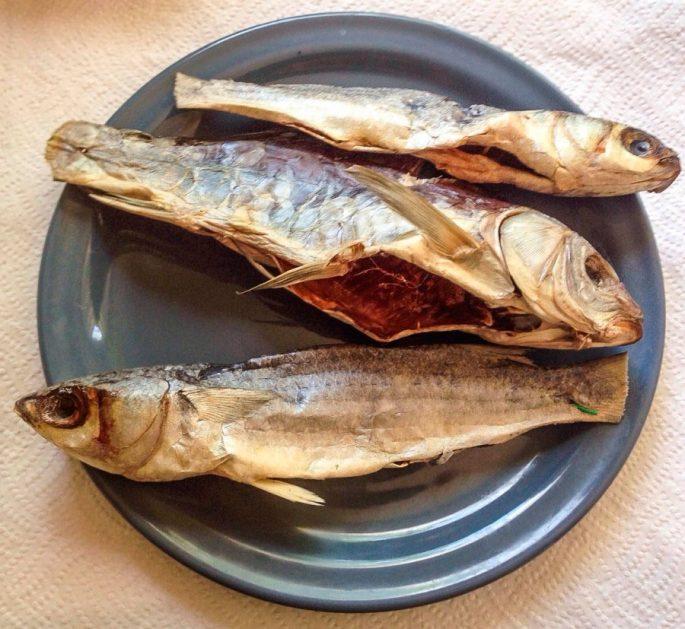 Сушеная или вяленая рыба