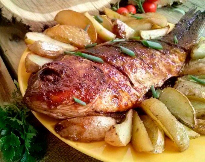 Речная рыба в духовке