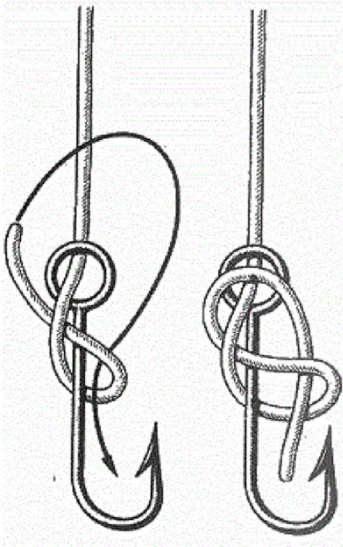 простые и надежные узлы вязание рыболовных крючков