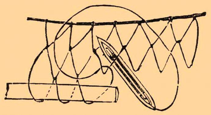 Как самостоятельно плести сеть из лески