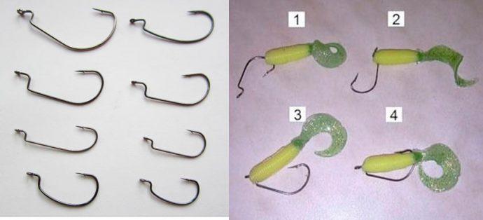 Офсетные крючки с пружиной ещё один подвид офсетных крючков — модели с маленькой пружинкой, которая вкручивается в приманку.