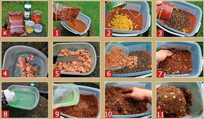 рецепт прикормки для соски