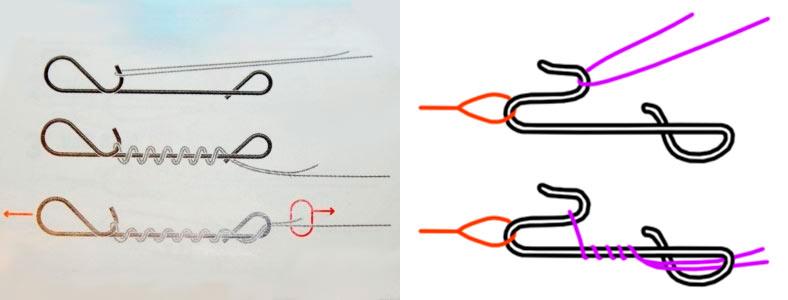 как привязать микроджиг к леске