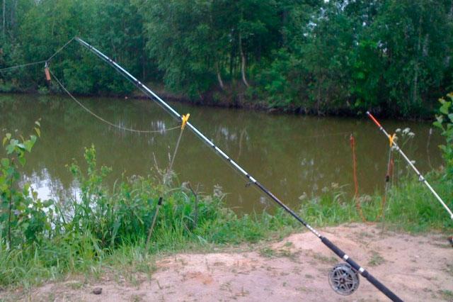 рыбалка без удочки на леску