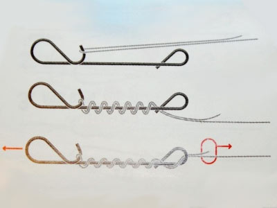 крепление воблера к поводку из струны