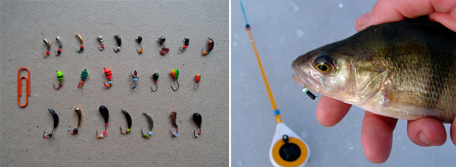 Зимняя ловля плотвы и окуня видео