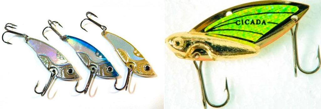 ловля рыбы с приманкой цикада