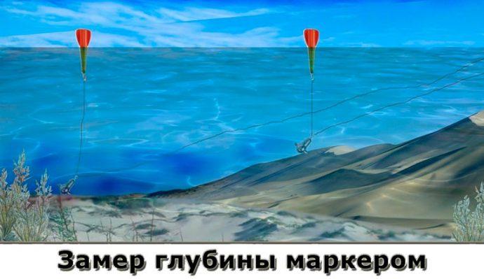 Как мерять глубину маркерным поплавком