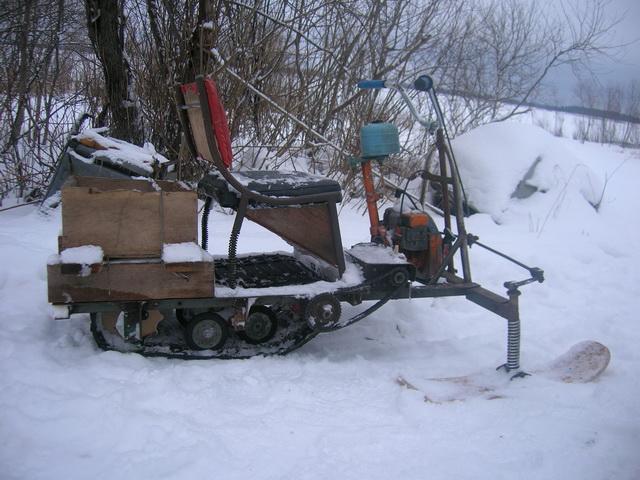 Хороший самодельный снегоход