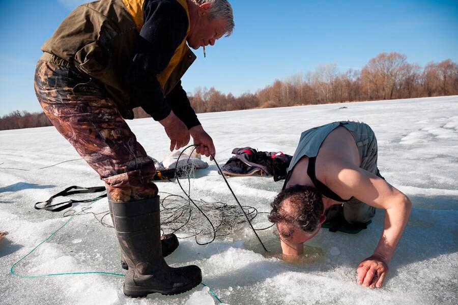 зимния рыбалка в россии видео