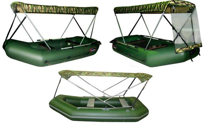 Сделать навес на лодку пвх