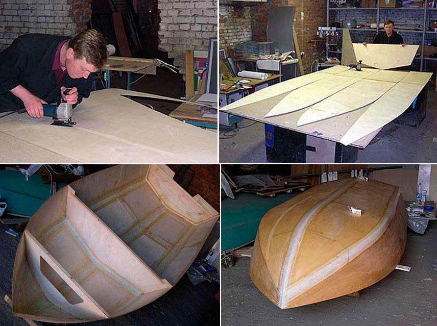 лодка из картона
