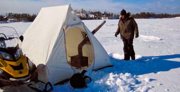 Зимняя рыбалка в киевской об