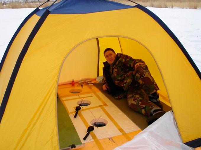 как не замерзнуть в палатке на рыбалке