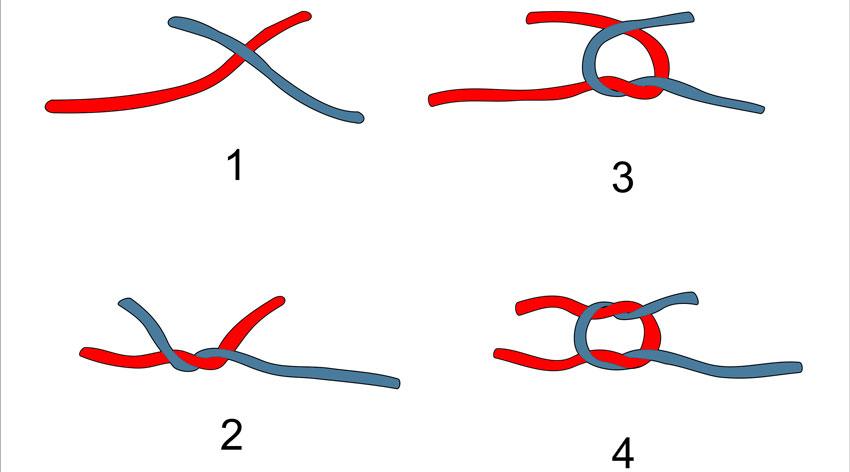 Как завязывать узелки при вязании 576