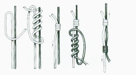Вязание хирургического узла на леске