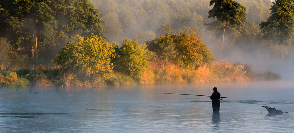 Осень рыбалка на речке