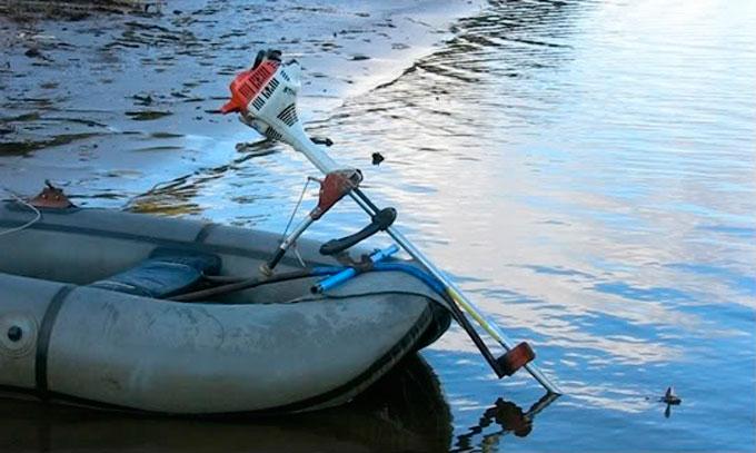 из чего сделать самодельный мотор на резиновую лодку