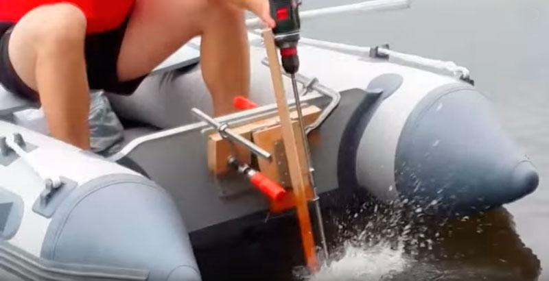 Как сделать из шуруповерта мотор для лодки
