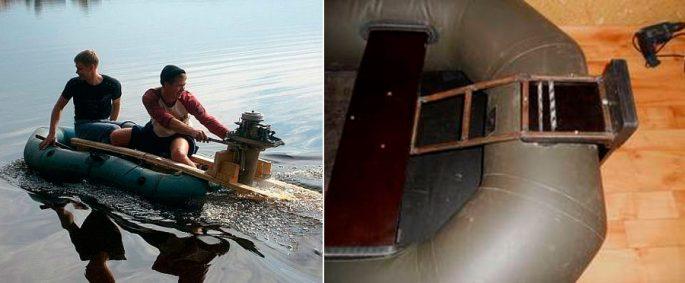 Транец навесной для лодки ПВХ своими руками