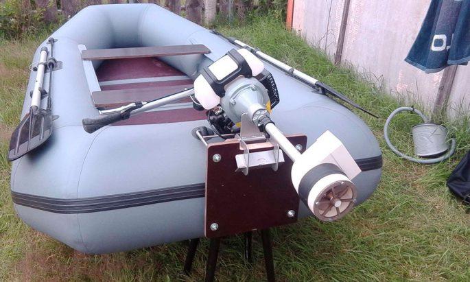 Водометный двигатель для лодки ПВХ