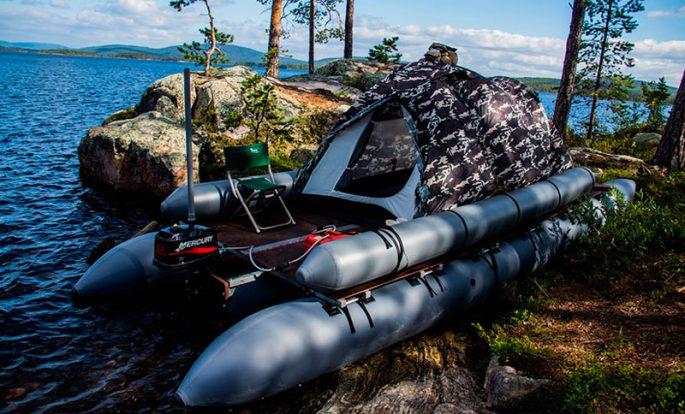 Надувные катамараны под мотор для рыбалки