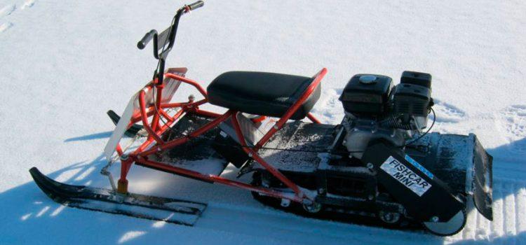 Мини снегоход для рыбалки